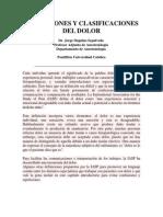 Definiciones y Clasificaciones Del Dolor