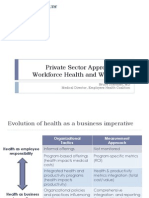 Private Sector Approaches to Workforce Health and Well-Being