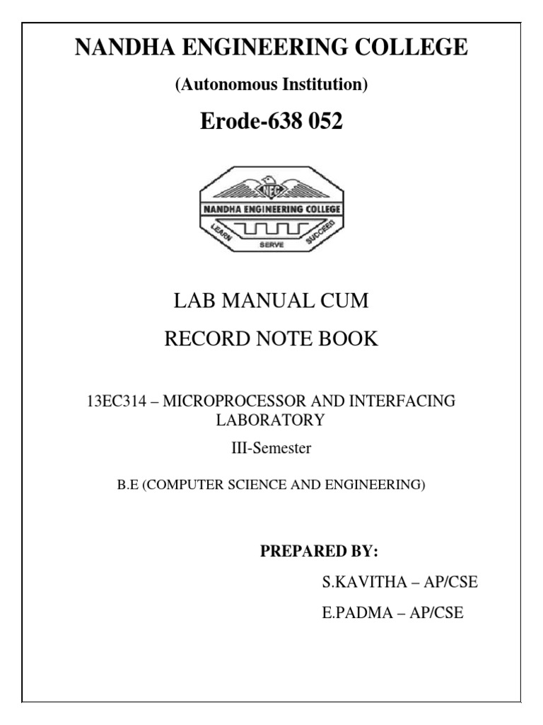 mp 8086 lab manual trainer kit electronic engineering computer rh scribd com microprocessor lab manual 8086 microprocessor lab manual vtu