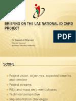 Breifing on the UAE National ID Card Program