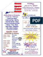 Fourth of July 2014 Flyer