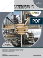 New Projects in Cement Industry 2013-14