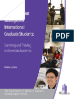 Communication for Graduate Students in American Academia
