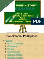 Pre Colonial Period
