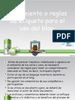 Lineamineto o Reglas Digitales Para El Uso Del Blog.