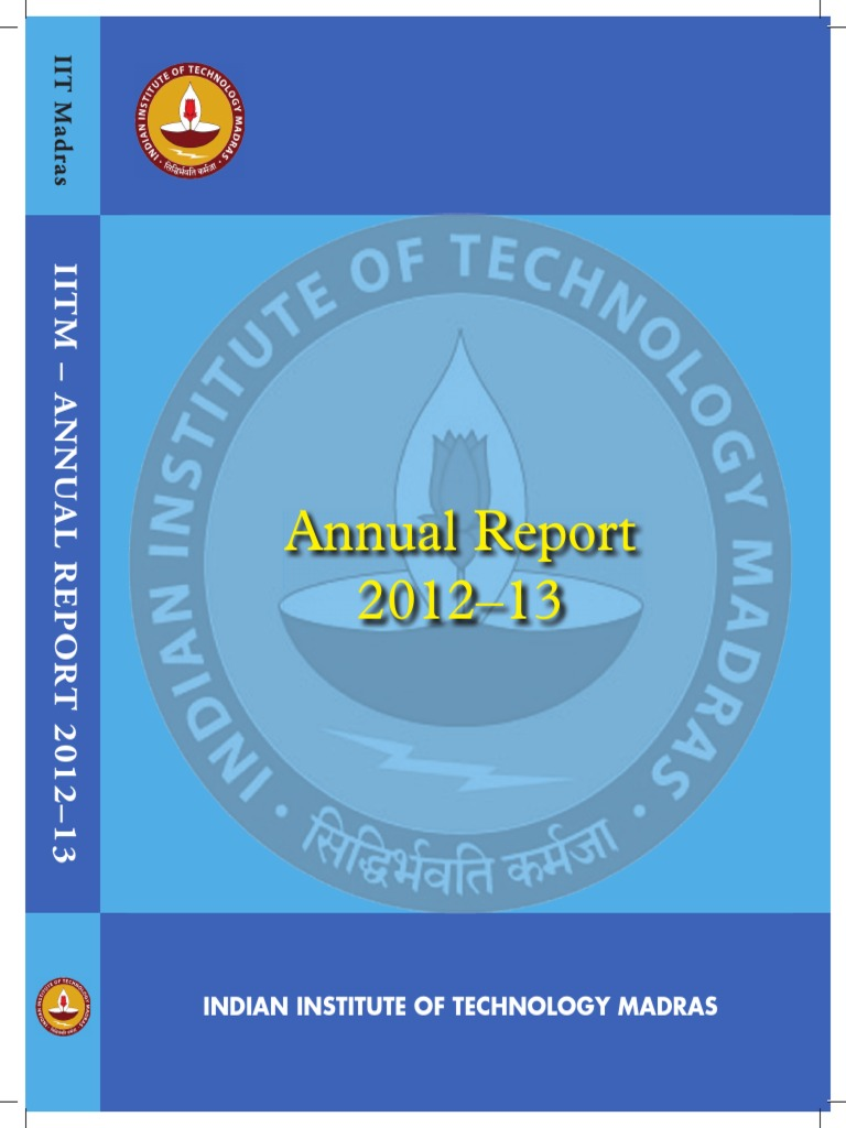 Iitm Annual Report 2012 Educational Technology Engineering Linear Integrated Circuits 2 Units Premium Lecture Notes Lavanya
