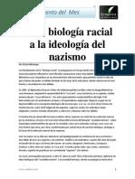 De La Biología Racial a La Ideología Del Nazismo Víctor Montoya