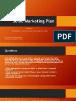 Sonic Marketing Plan