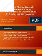 The Impact of Marketing Audit on Organizations Marketing