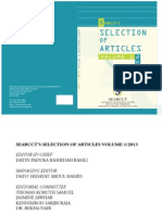 SEARCCT Selection of Articles Vol. 1-2013