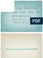 Creating Balance Through the Law of Attraction