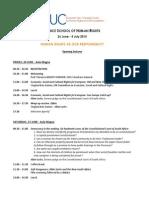 Programme Opening - Venice School 2015