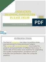 Top Animation Institutes in East Delhi