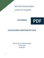 Glaciatiunea montana in Italia