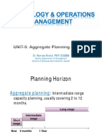 Unit09 - Aggregate Planning MPS