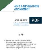 Unit10 - Mrp