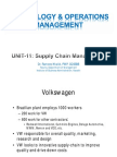 Unit11 - Supply Chain Management