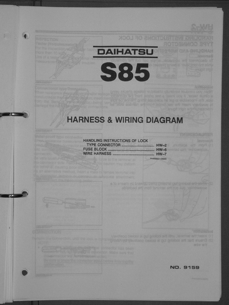 Daihatsu Sportrak Wiring Diagram Free Download 1990 Rocky Engine Workshop Manual 3 Cyl 993cc Equipment Along With Charade Moreover