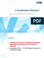 ZTE Integration CDN Wireless Acceleation Solution