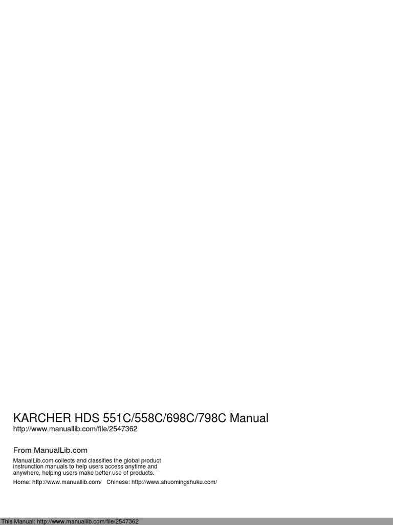 karcher hds 551c 558c 698c 798c rh es scribd com karcher hds 698 c eco service manual karcher hds 698 c service manual