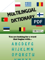 Multilingual Dictionary V