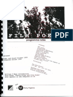 Film Poems Programme Notes (1998)