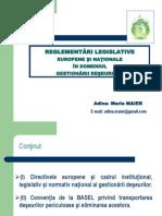 Reglementari Legislative Europene Si Nationale Privind Gestionraea Deseurilor