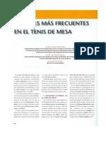 Lesiones Mas Frecuentes en El Tenis de Mesa Revista Prevenir MGD