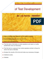 Stages of Test Development