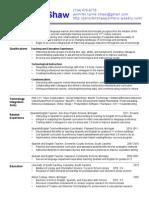 jennifer shaw instructional learning intermediate resume only