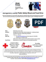 MoCo Public Safety Blood and Food Drive
