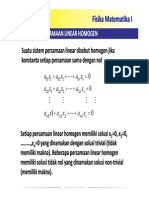 Persamaan Linear Homogen