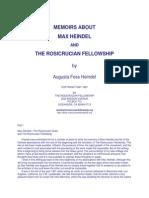 Augusta Foss Heindel - Memoirs About Max Heindel