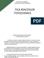 Cinetica reactiilor fotochimice