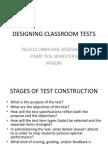 Designing Classroom Tests
