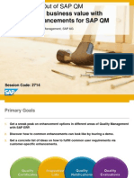 2714 Increase Your Business Value With Standard Enhancements for SAP QM