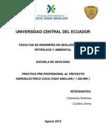 Informe Práctica Pre-profesional PHCCS-Agosto 2013.
