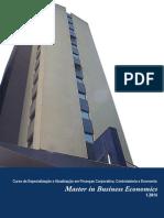 Master in Business Economics [PÓS-GRADUAÇÃO FGV]