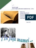 Eseu. Mama. Adriana Hropotinschi, Eleva, Cl. IX, Gimn. Hadarauti, r. Ocnita