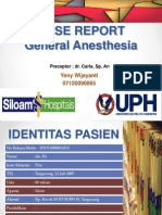 Case Report General Anesthesi - Siloam