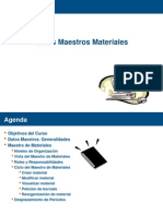 SAP-MM 210 Datos Maestros de Materiales