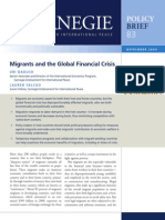 Migrants and the Global Financial Crisis