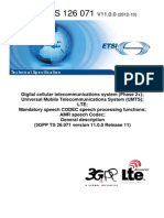 AMR speech CODEC speech 3GPP Rel.11