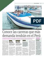 Conoce Las Carremas Que Más Demanda Tendrán en El Perú