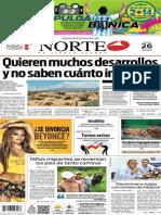 Periódico Norte edición del día jueves 26 de junio de 2014