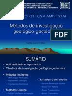 GNE 143 - GEOTECNIA AMBIENTAL - Aula 09 Metodos de Investigacao Geologico-geotecnica