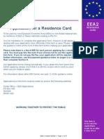 EEA 2 Residence Card 06-14
