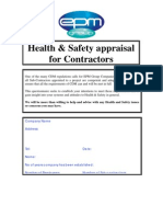 Subcontractor H&S Questionnaire