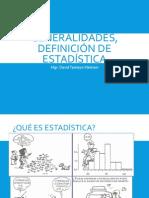 Generalidades, Definición de Estadística