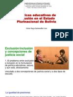 Políticas Educativas de Inclusión en El Estado Plurinacional-Quintanilla